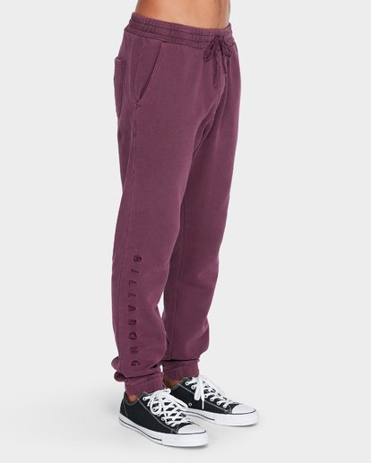 2 WORDSMITH FLEECE TRACKPANT Red 9595307 Billabong