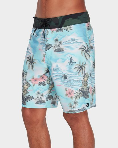 "1 Sundays Airlite 19"" Boardshorts Green 9595404 Billabong"