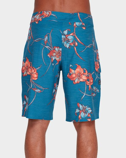 "2 ALL DAY FLORAL PRINTED 19"" BOARDSHORTS Blue 9595414 Billabong"