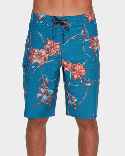 "0 ALL DAY FLORAL PRINTED 19"" BOARDSHORTS Blue 9595414 Billabong"