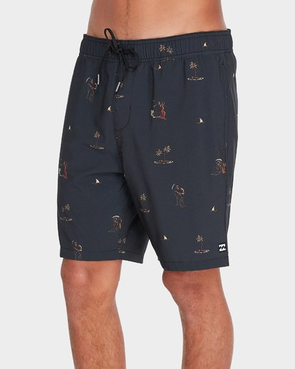 "3 SUNDAYS 17"" LAYBACKS BOARDSHORT  9595422 Billabong"