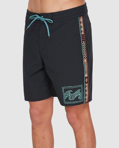 "1 ATLAS JACQUARD 19"" PRO BOARDSHORT Black 9595455 Billabong"