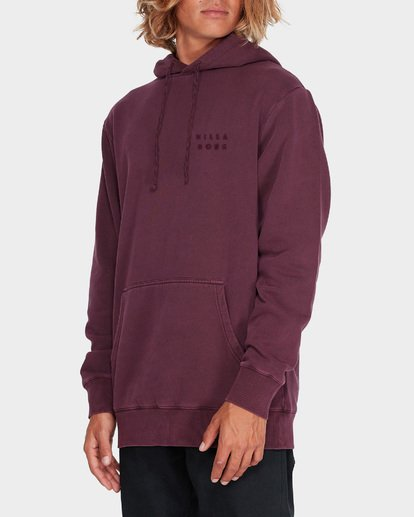 1 DIE CUT OVERDYE POP HOOD Red 9595607 Billabong