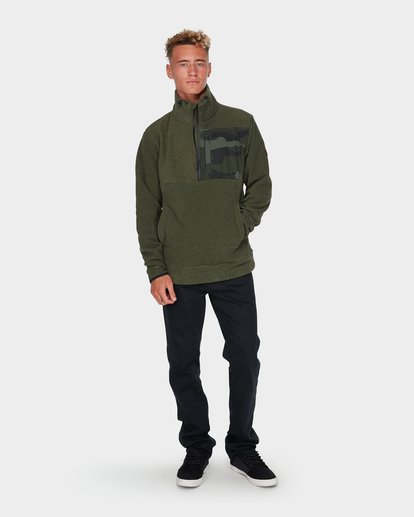 3 BOUNDARY MOCK HALF ZIP Green 9595621 Billabong