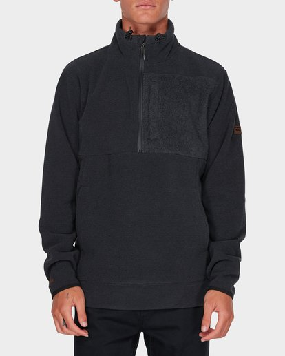 0 BOUNDARY MOCK HALF ZIP Black 9595621 Billabong