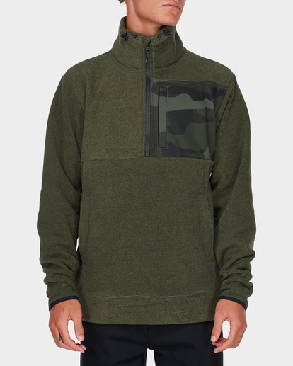 0 BOUNDARY MOCK HALF ZIP Green 9595621 Billabong