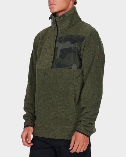 1 BOUNDARY MOCK HALF ZIP Green 9595621 Billabong