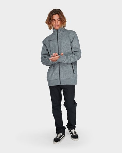 3 Adiv Mainland Zip Fleece Grey 9595626 Billabong