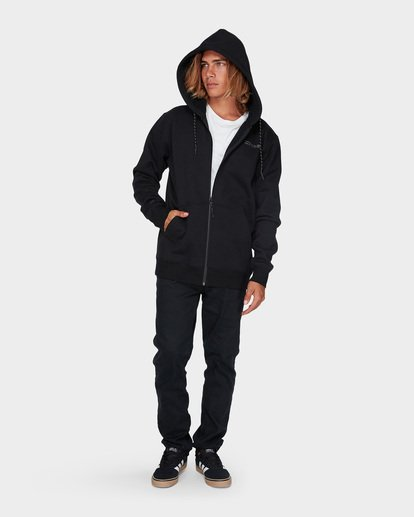 5 ADIV SHORELINE FURNACE ZIP HOOD Black 9595628 Billabong
