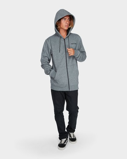 3 ADIV SHORELINE FURNACE ZIP HOOD Grey 9595628 Billabong