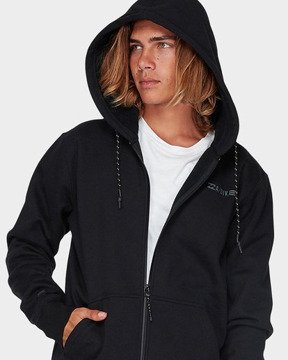 3 ADIV SHORELINE FURNACE ZIP HOOD Black 9595628 Billabong