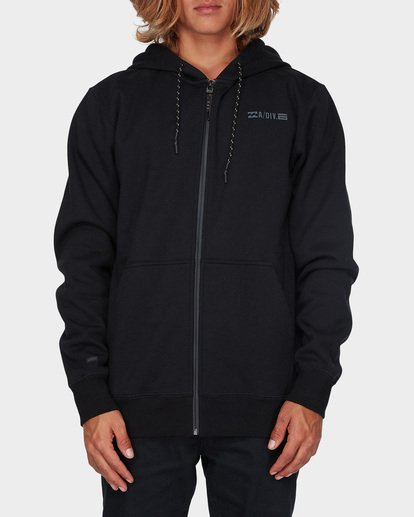 0 ADIV SHORELINE FURNACE ZIP HOOD Black 9595628 Billabong