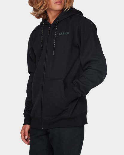 1 ADIV SHORELINE FURNACE ZIP HOOD Black 9595628 Billabong