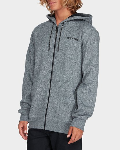 1 ADIV SHORELINE FURNACE ZIP HOOD Grey 9595628 Billabong