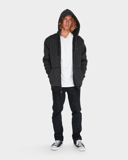 3 Revolt Zip Thru Hood Black 9595633 Billabong
