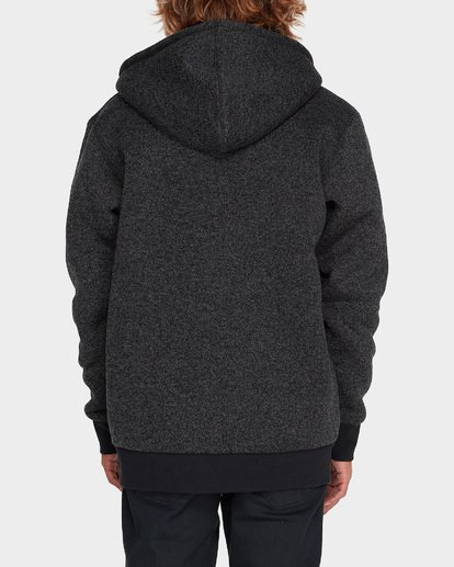2 Revolt Zip Thru Hood Black 9595633 Billabong