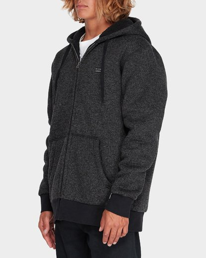 1 Revolt Zip Thru Hood Black 9595633 Billabong