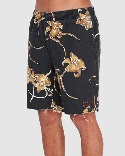 "1 SUNDAYS ELASTIC 17"" BOARDSHORT Black 9595702 Billabong"
