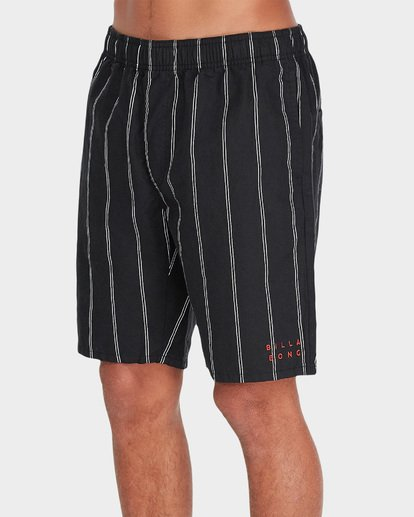 2 VERTICAL STRIPE ELASTIC WALKSHORT Black 9595704 Billabong
