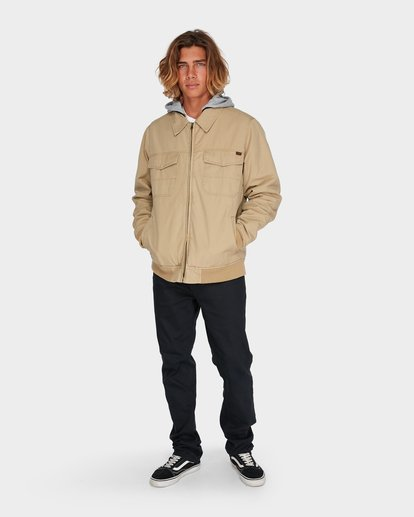 3 BARLOW TWILL JACKET Pink 9595916 Billabong