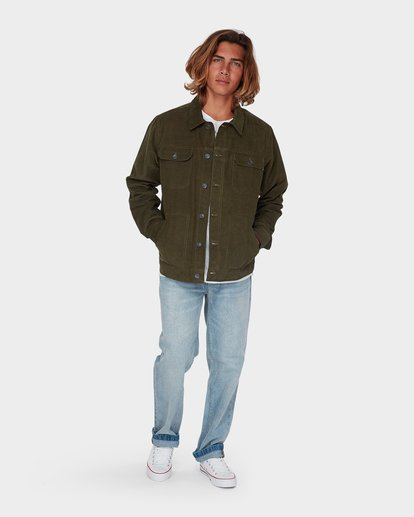 3 The Cord Arch Jacket Green 9595919 Billabong