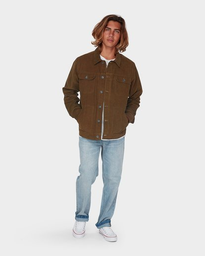 3 The Cord Arch Jacket Brown 9595919 Billabong