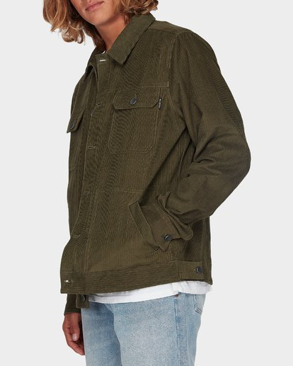 1 The Cord Arch Jacket Green 9595919 Billabong