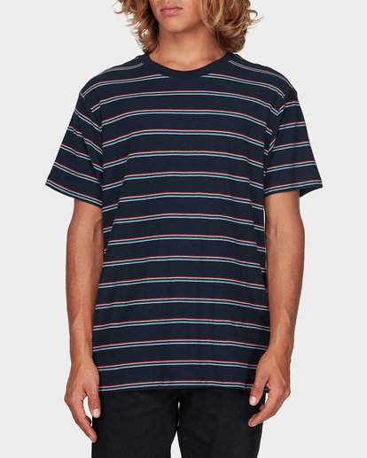 0 Die Cut Stripe Tee Blue 9596003 Billabong