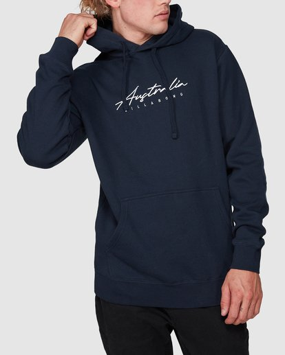 1 CLASSIC ACT POP HOOD Blue 9596635M Billabong
