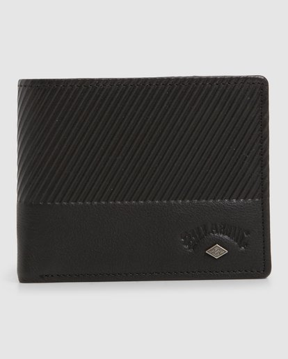 0 Helsman Rfid Flip Wallet Black 9603184 Billabong