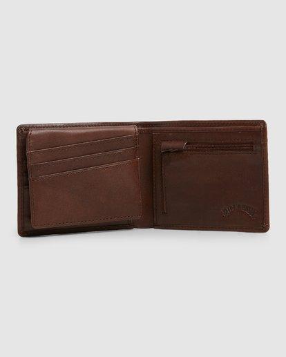 3 Helsman Rfid Flip Wallet Brown 9603184 Billabong