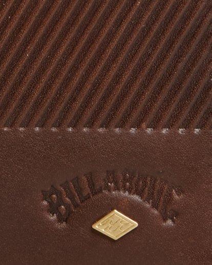 5 Helsman Rfid Flip Wallet Brown 9603184 Billabong