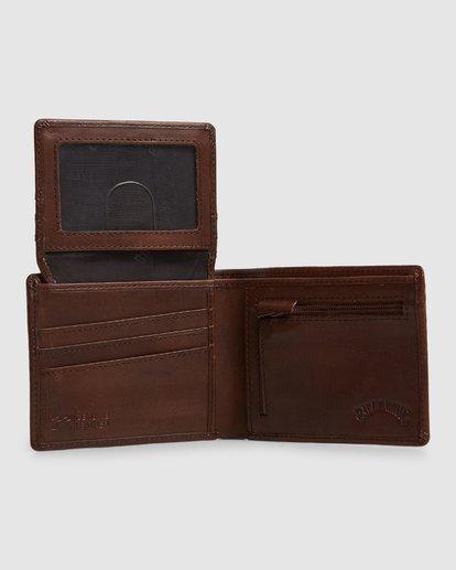 4 Helsman Rfid Flip Wallet Brown 9603184 Billabong