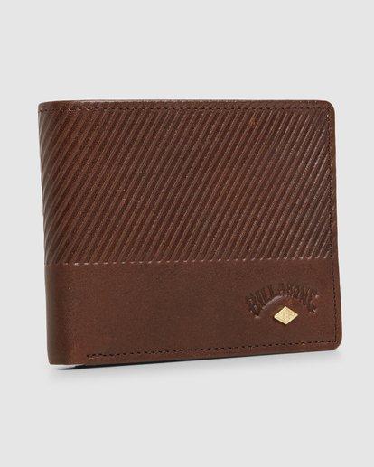 2 Helsman Rfid Flip Wallet Brown 9603184 Billabong