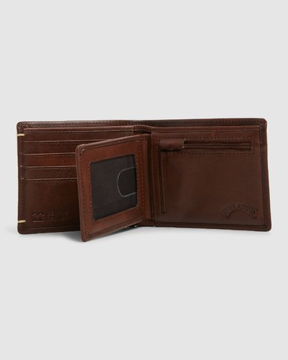 3 Rockaway RFID 2 In 1 Wallet Green 9603206 Billabong