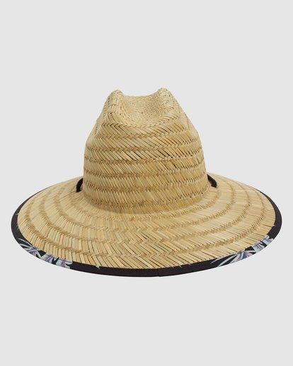 2 Tides Print Straw Hat Black 9603327 Billabong