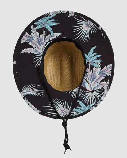 3 Tides Print Straw Hat Black 9603327 Billabong