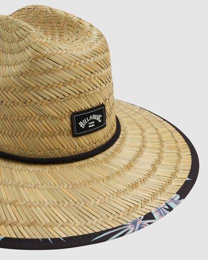 4 Tides Print Straw Hat Black 9603327 Billabong