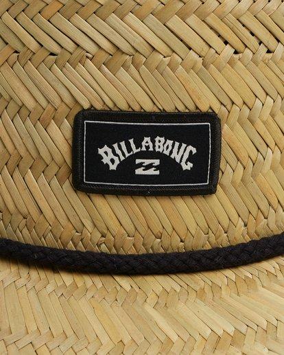 5 Tides Print Straw Hat Black 9603327 Billabong
