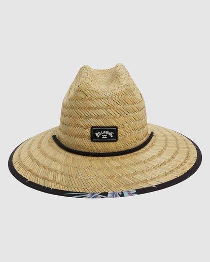 0 Tides Print Straw Hat Black 9603327 Billabong