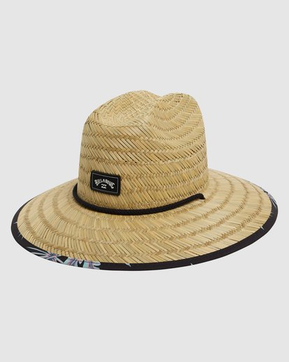 1 Tides Print Straw Hat Black 9603327 Billabong
