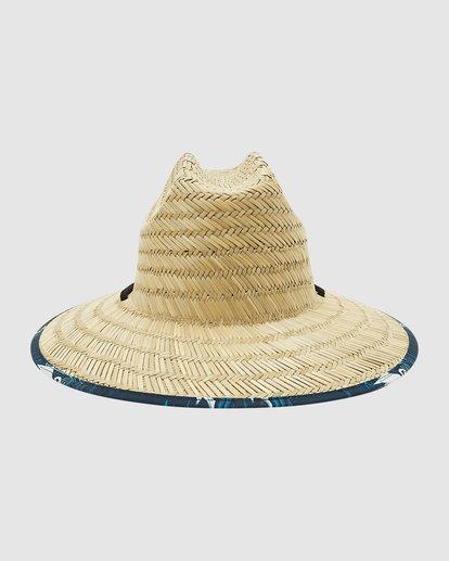 1 Tides Print Straw Hat Blue 9603327 Billabong