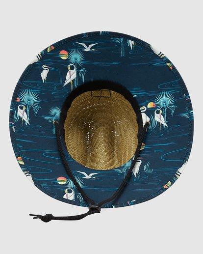 2 Tides Print Straw Hat Blue 9603327 Billabong