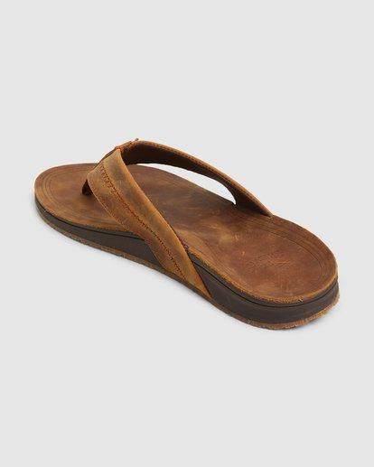 2 Brunswick Leather Thongs Brown 9603953 Billabong