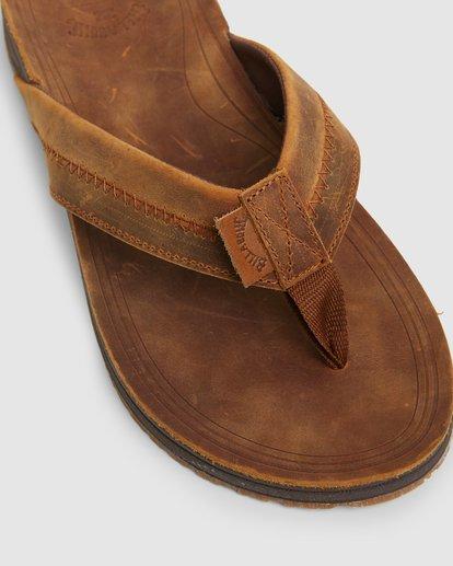 7 Brunswick Leather Thongs Brown 9603953 Billabong