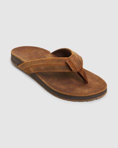 1 Brunswick Leather Thongs Brown 9603953 Billabong