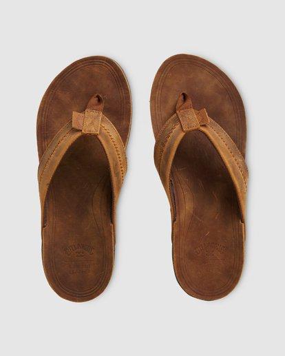 0 Brunswick Leather Thongs Brown 9603953 Billabong