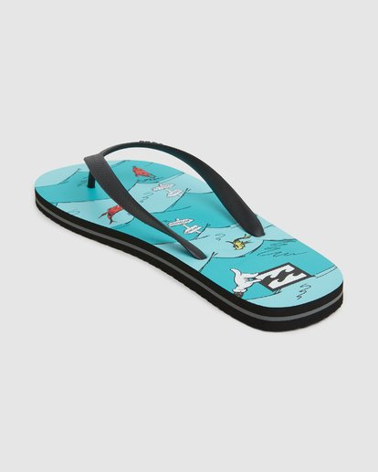 2 Dr. Seuss One Fish Two Fish Thongs  9603980 Billabong
