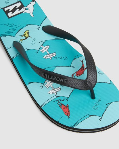 7 Dr. Seuss One Fish Two Fish Thongs  9603980 Billabong