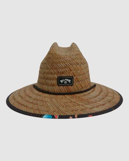 2 Tides Print Straw Hat Blue 9604338 Billabong